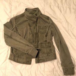 GAP Army Green Button Utility Jacket | Size 2